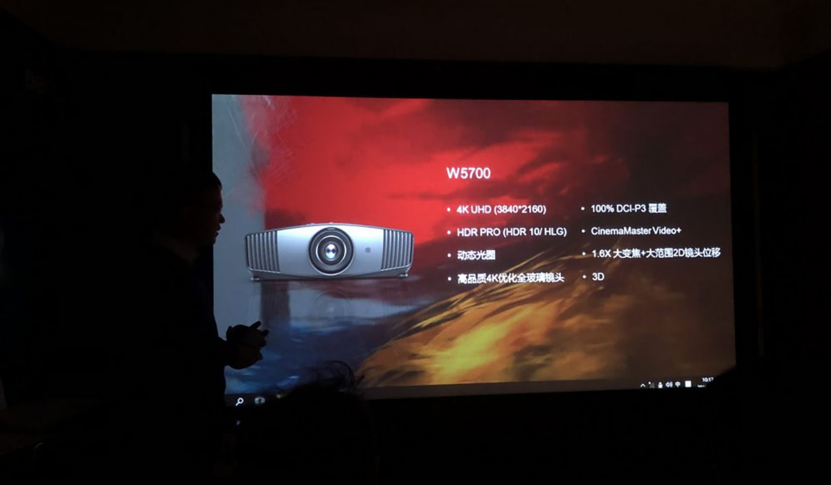 SIAV2019   有了4K+广色域 明基W5700投影机已经可以为所欲为了