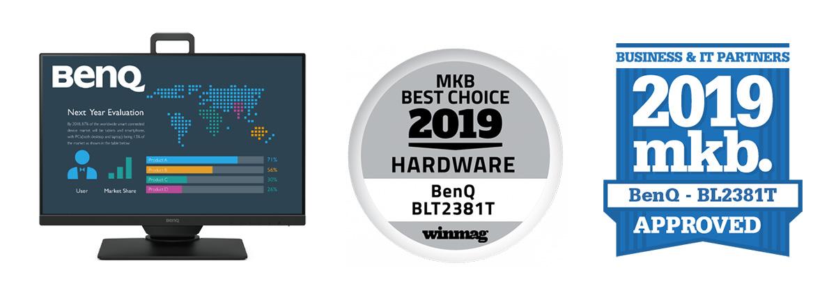 【荷兰】2019年度最佳硬件选择奖公布 | 明基BenQ BL2381T商务办公爱眼显示器获颁