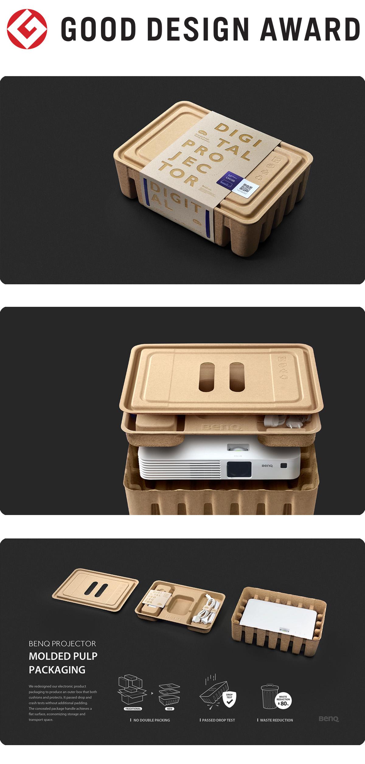 【日本】明基BenQ投影机环保包装获颁2019年度G-Mark设计大奖(GOOD DESIGN AWARD 2019)