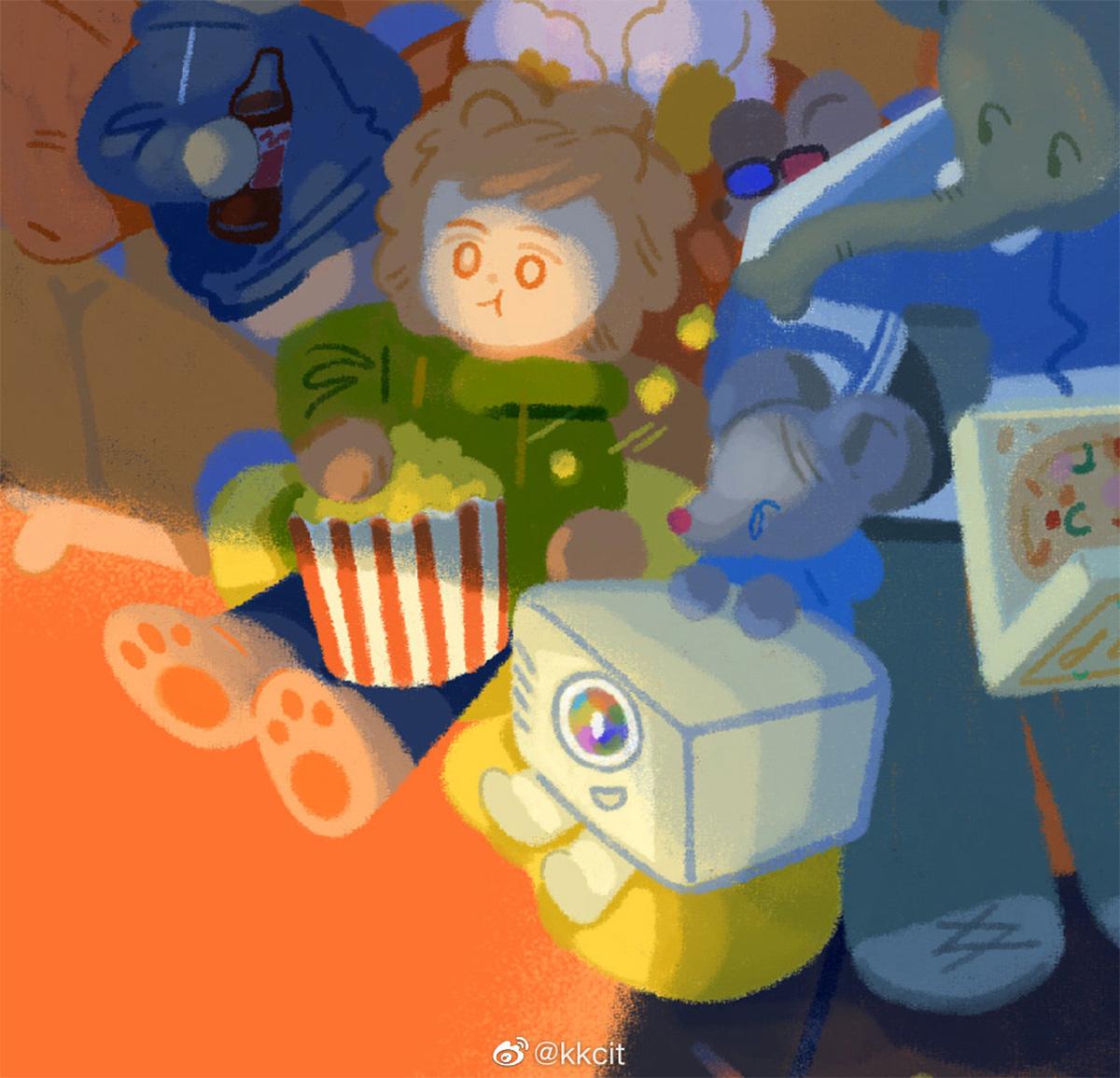 为明基投影机E582创作了一些插画