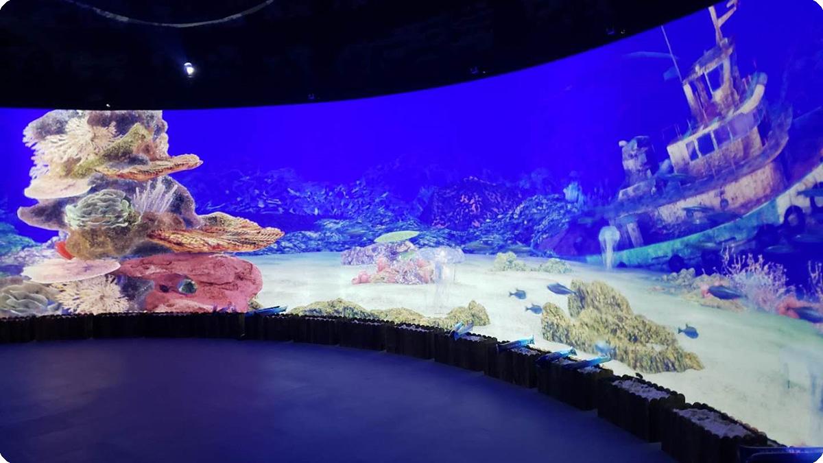 明基激光工程投影机打造陆地海洋景观